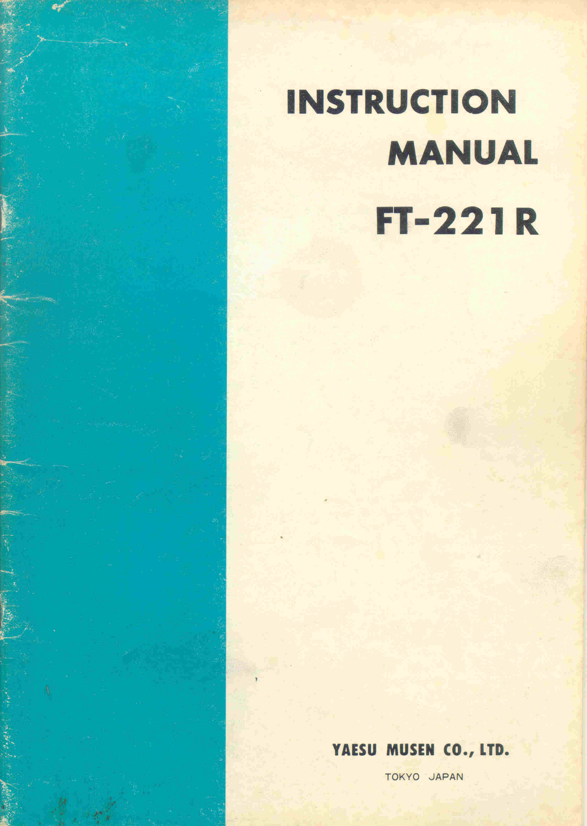 Ft 221r Instruction Manual